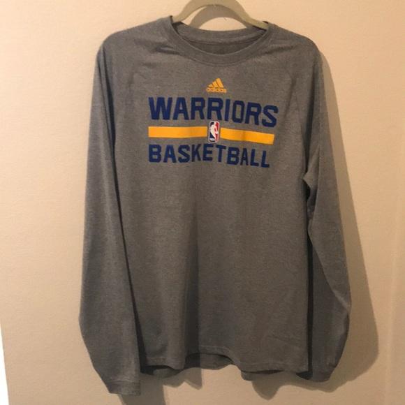 warriors warm up long sleeve